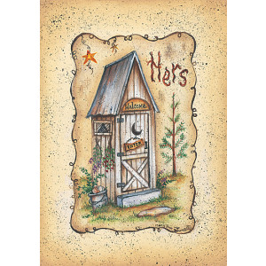 Hers Outside Toilet 5 x 7 Print