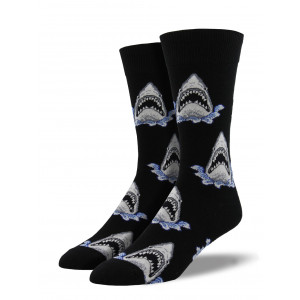 mens-sock-shark-black