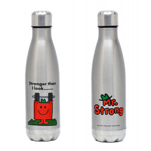 Mr Men Mr Strong Stainless Steel Water Drink Bottle