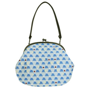 Japanese Mt Fuji Jacquard Pattern Designer Fashion Clutch Bag Large