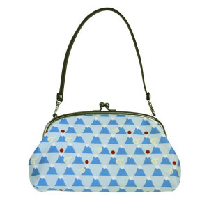 Japanese Mt Fuji Jacquard Pattern Designer Fashion Clutch Bag
