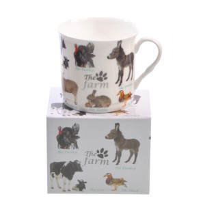 Farm Animals Princess Mug