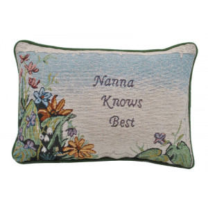Tapestry Word Throw Pillow Cushion Nana Knows Best