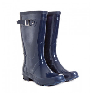 Navy Blue Kids Childrens Skeanie Gumboots Wellies Rainboots