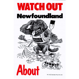 Watch Out Newfoundland About Dog Sign