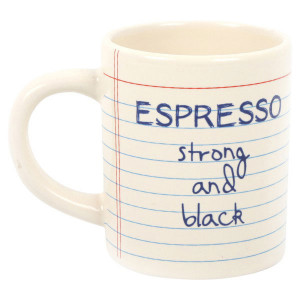 Notebook Design Ceramic Espresso Cup Mug