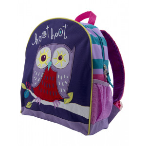 Party Owl Design Childrens Kids Backpack Little Blue House