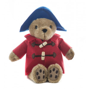 Paddington Bear Sitting 21cm Blue Hat With Red Coat Soft Toy