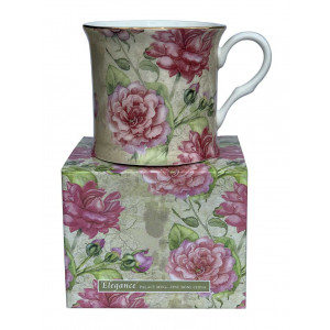 Elegance Rose Design Fine Bone China Palace Coffee Mug