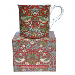 Strawberry Thief Red Fine Bone China Palace Tea Coffee Cup Mug