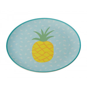 Tropicana Pineapple Design Bamboo Fibre Plate