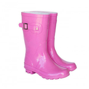Pink Kids Childrens Skeanie Gumboots Wellies Rainboots