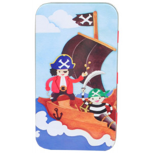 Pirates Ahoy Design Kids Pencil Case Tin