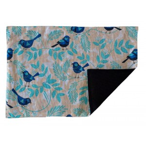 Blue Wren 100% Cotton Table Placemats - Set 4
