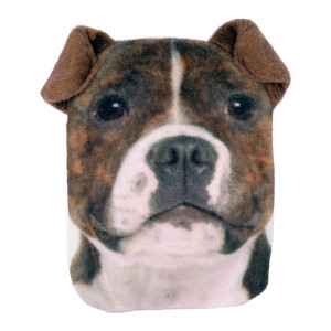 Staffy Dog Hand Warmer Pocket Hotty With Removable Cover