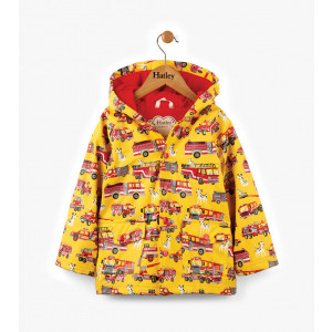 Fire Trucks Childrens Kids Boys Raincoat By Hatley