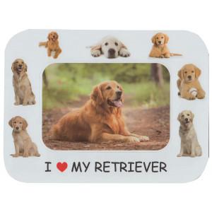 Retriever Dog Magnetic Photo Frame