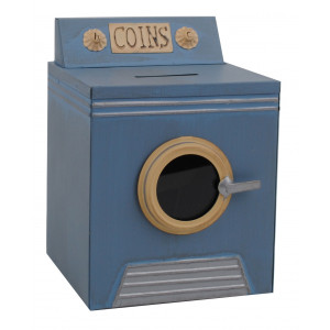 Retro Style Front Loader Washing Machine Coin Money Bank