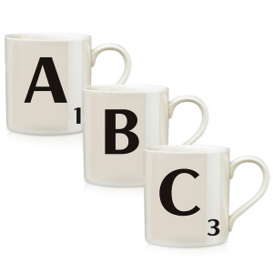 Scrabble Letter White Ceramic Mug