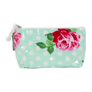 Cosmetic Beauty Makeup Storage Toiletry Travel Bag Rose Polkadot