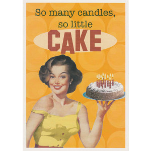 So Many Candles So Little Cake Retro Greeting Card