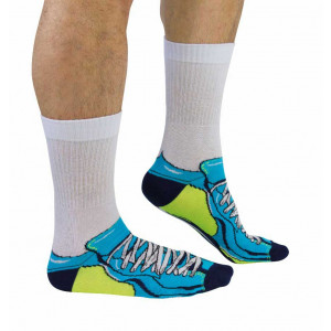 Mens Sports Trainer Design Fun Novelty Socks