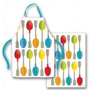 Spoonful Spoons Apron and Tea Towel Set