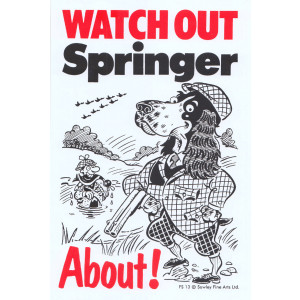Watch Out Springer About Dog Sign
