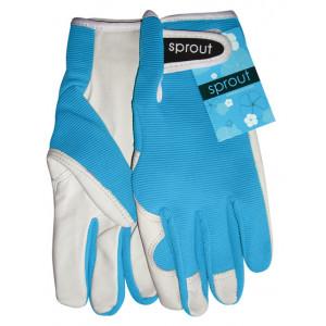 Sprout Ladies Gardening Gloves Aqua Blue