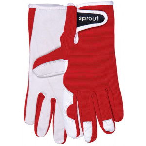 Sprout Ladies Gardening Gloves Red