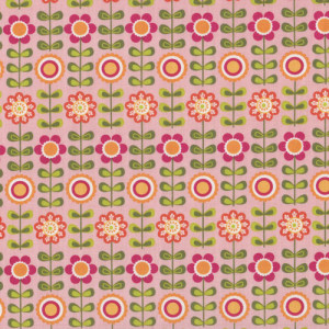Flowers on Pink Summer Song Riley Blake Quilt Fabric