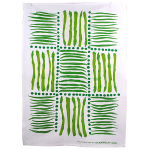 Linen Cotton Kitchen Tea Towel Asparagus Vegetable Design