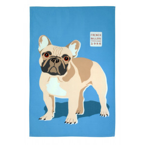 French Bulldog Design 100% Cotton Kitchen Tea Towel