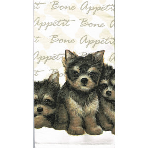 Yorkshire Puppies Dogs 100% Cotton Kitchen Tea Towel
