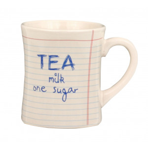 Notebook Style Tea Milk One Sugar Ceramic Cup Mug