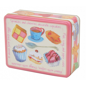 Tea Time Gingerbread Cupcakes Biscuit Tin