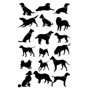 Dog Breed Silhouettes 100% Cotton Kitchen Tea Towel