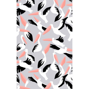 Australian Pelican Birds 100% Cotton Kitchen Tea Towel