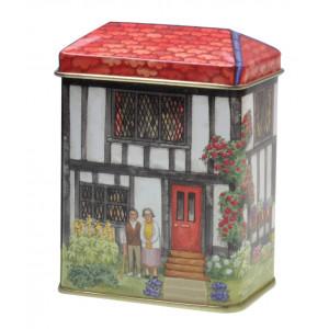 Small Decorative Storage Tin English Cottage Garden Proud Couple