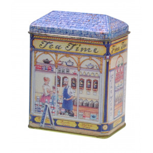 Small Decorative Tin Collectable Storage Fine Tea Shop