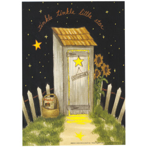 Tinkle Tinkle Little Star Outside Toilet 5 x 7 Print