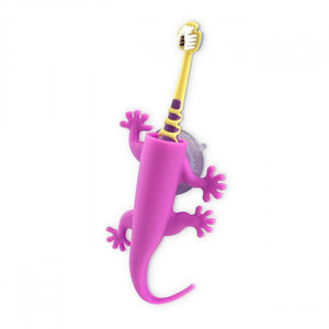 Silicone Larry The Lizard Toothbrush Holder Purple