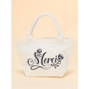 Mini Canvas Merci Gift Tote Shopping Lunch Bag