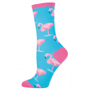 womens-pink-flamingo-socks