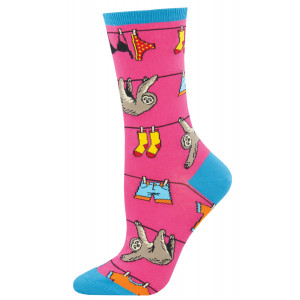 womens-socks-sloth-pink