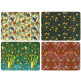 Set of 4 Dining Table Placemats and Coasters William Morris Birds
