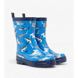 Deep Sea Sharks Shiny Kids Rainboots Gumboots By Hatley