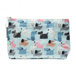 Cosmetic Beauty Makeup Storage Toiletry Travel Bag Dog Mix Large