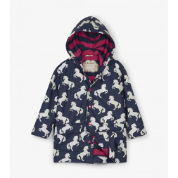 Playful Horses Colour Changing Kids Childrens Raincoat By Hatley