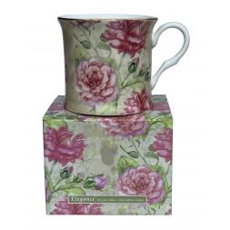 Elegance Rose Design Fine Bone China Palace Coffee Mug